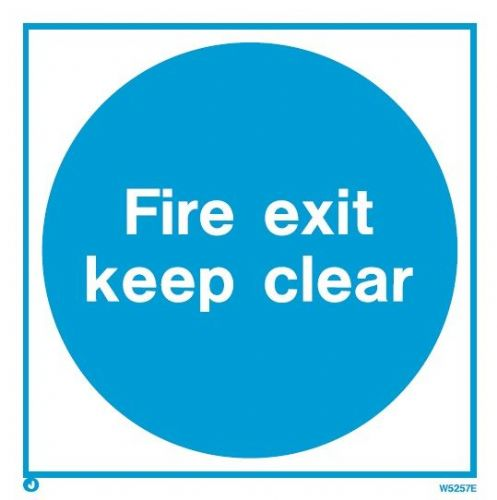 (WX5257E) Fire Exit Keep Clear - *Exterior application*